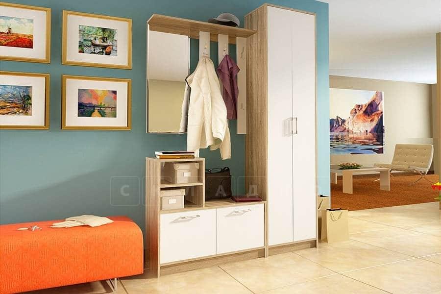 Прихожая Лофт-2 со шкафом дуб сонома с белым фото 1 | интернет-магазин Складно