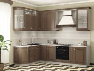 Кухня угловая Массив-Люкс 1735х2100 86530 рублей, фото 1 | интернет-магазин Складно