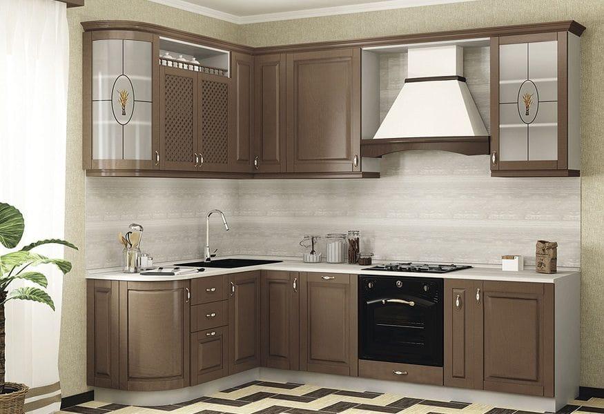 Кухня угловая Массив-Люкс 1735х2100 фото | интернет-магазин Складно