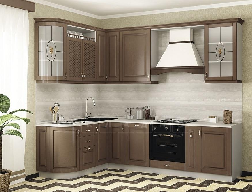 Кухня угловая Массив-Люкс 1735х2100 фото 1 | интернет-магазин Складно