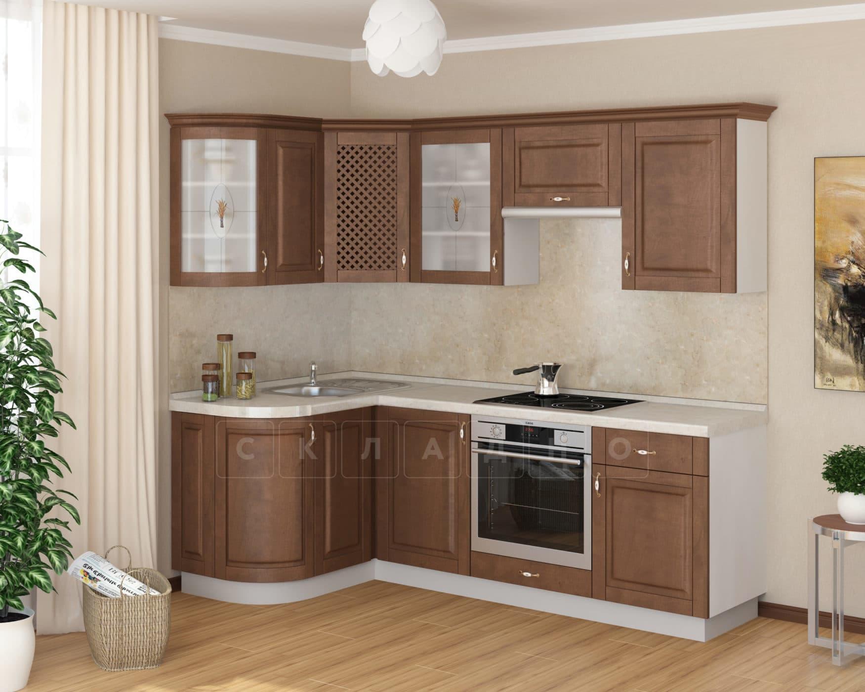 Кухня угловая Массив-Люкс 1335х1600 фото 1 | интернет-магазин Складно