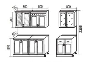Кухонный гарнитур Массив-Люкс 2400 В 76550 рублей, фото 7 | интернет-магазин Складно
