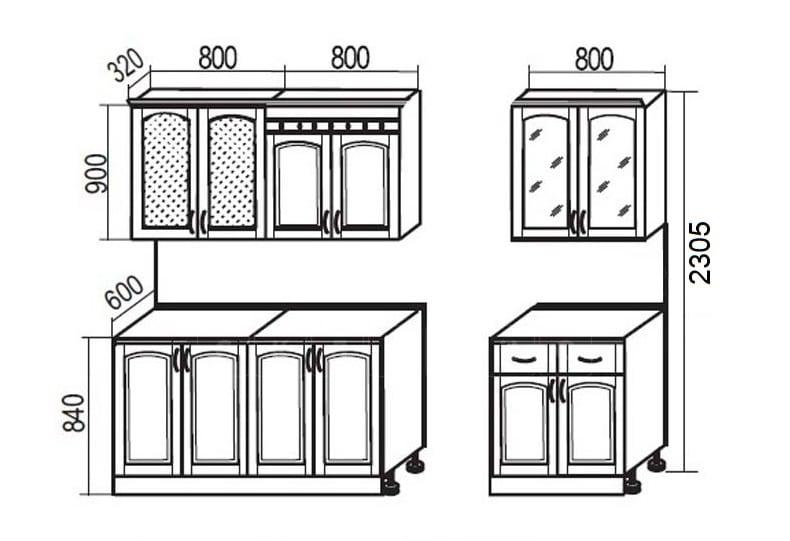 Кухонный гарнитур Массив-Люкс 2400 В фото 7 | интернет-магазин Складно