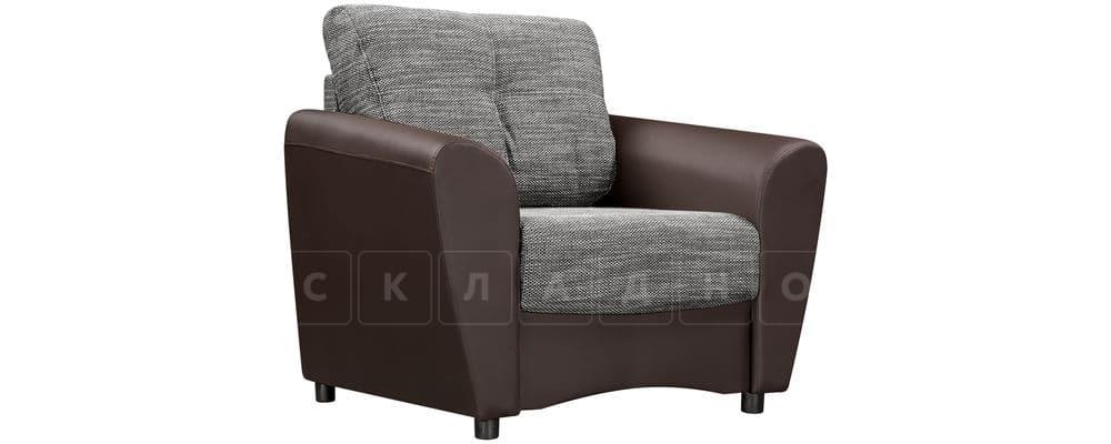 Кресло Амстердам коричневое с серым фото 1 | интернет-магазин Складно