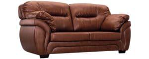 Диван Бристоль кожаный коричневого цвета фото | интернет-магазин Складно