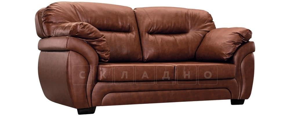 Диван Бристоль кожаный коричневого цвета фото 1 | интернет-магазин Складно