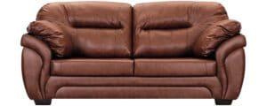 Диван Бристоль кожаный коричневого цвета 52990 рублей, фото 2 | интернет-магазин Складно