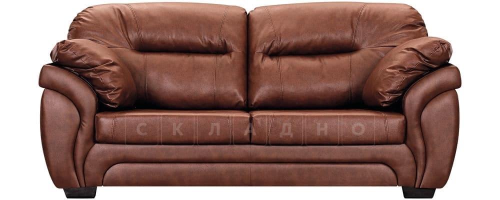 Диван Бристоль кожаный коричневого цвета фото 2 | интернет-магазин Складно
