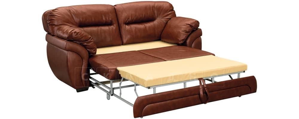 Диван Бристоль кожаный коричневого цвета фото 4 | интернет-магазин Складно