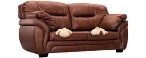 Диван Бристоль кожаный коричневого цвета 52990 рублей, фото 5 | интернет-магазин Складно