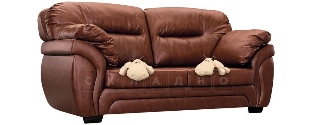 Диван Бристоль кожаный коричневого цвета фото 5 | интернет-магазин Складно