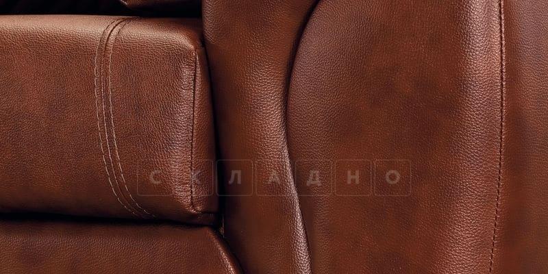 Диван Бристоль кожаный коричневого цвета фото 6 | интернет-магазин Складно