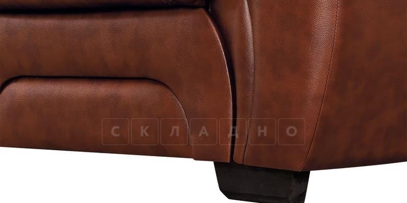 Диван Бристоль кожаный коричневого цвета фото 7 | интернет-магазин Складно