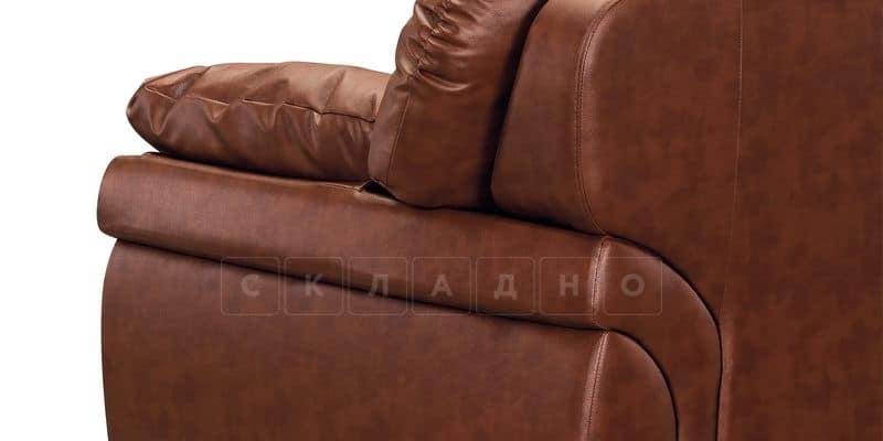 Диван Бристоль кожаный коричневого цвета фото 8 | интернет-магазин Складно