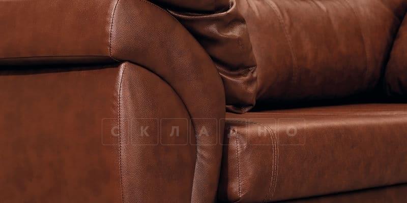 Диван Бристоль кожаный коричневого цвета фото 9 | интернет-магазин Складно
