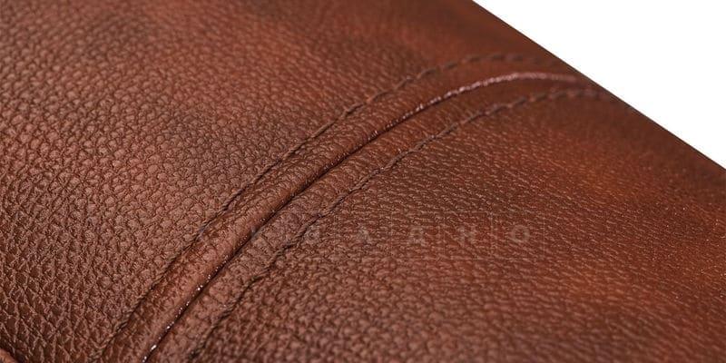 Диван угловой Бристоль кожаный коричневого цвета левый угол фото 9 | интернет-магазин Складно