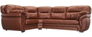 Диван угловой Бристоль кожаный коричневого цвета левый угол-315 фото | интернет-магазин Складно
