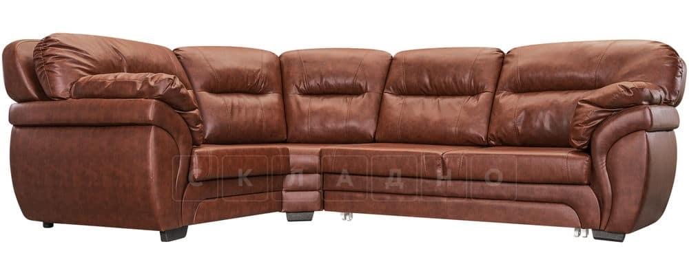 Диван угловой Бристоль кожаный коричневого цвета левый угол фото 1 | интернет-магазин Складно