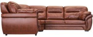 Диван угловой Бристоль кожаный коричневого цвета левый угол 79490 рублей, фото 2 | интернет-магазин Складно