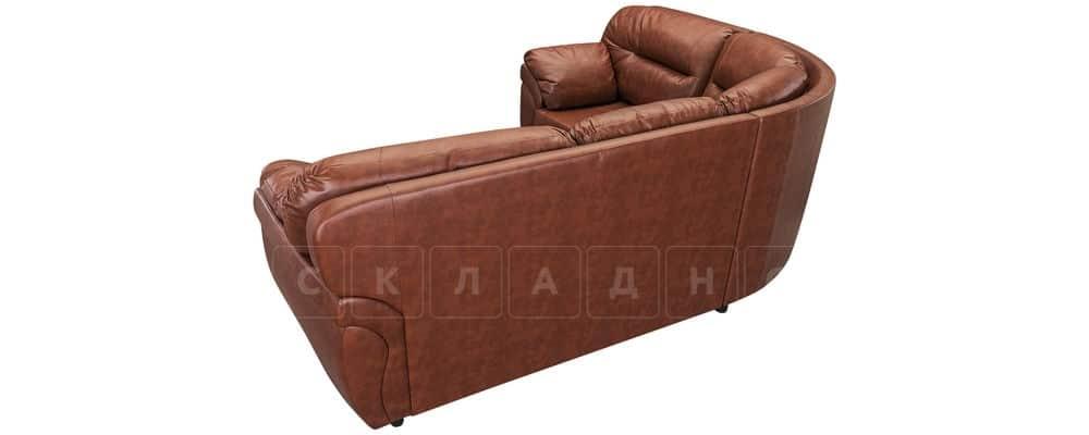 Диван угловой Бристоль кожаный коричневого цвета левый угол фото 3 | интернет-магазин Складно