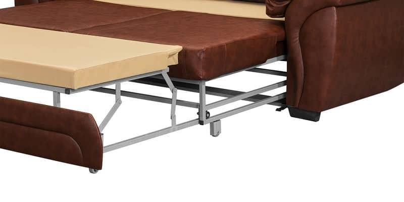 Диван угловой Бристоль кожаный коричневого цвета левый угол фото 6 | интернет-магазин Складно