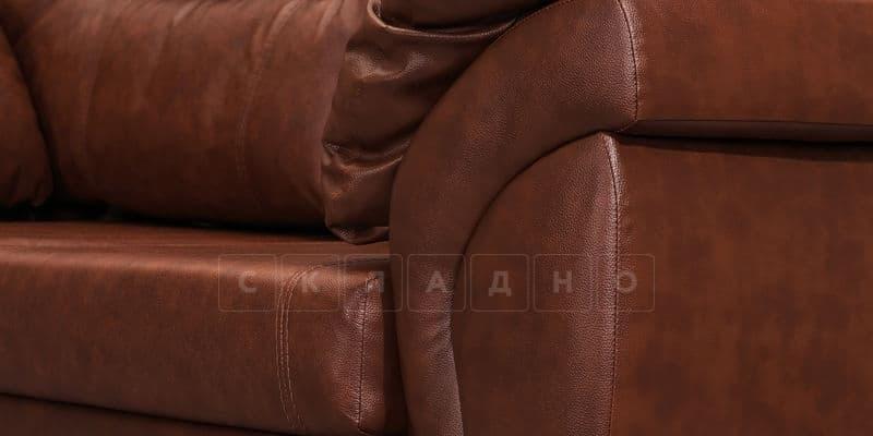 Диван угловой Бристоль кожаный коричневого цвета левый угол фото 7 | интернет-магазин Складно