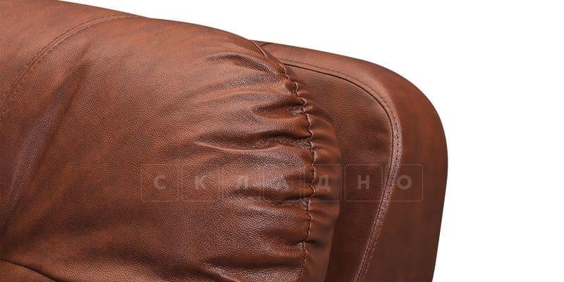 Диван угловой Бристоль кожаный коричневого цвета левый угол фото 8 | интернет-магазин Складно