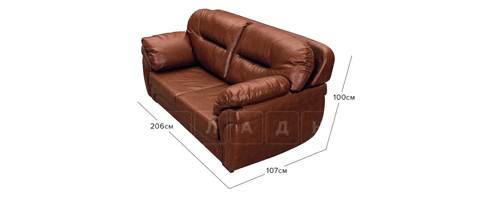 Диван Бристоль кожаный коричневого цвета фото 11 | интернет-магазин Складно