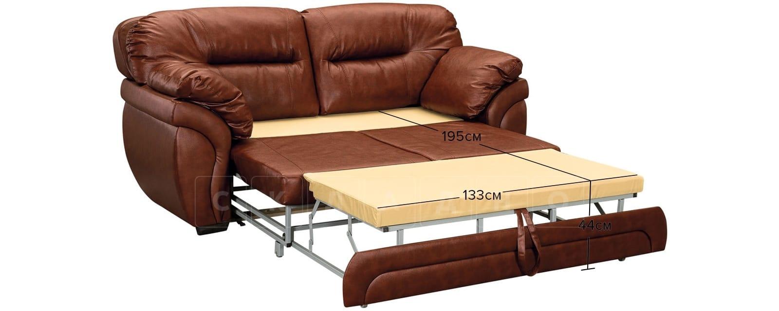 Диван Бристоль кожаный коричневого цвета фото 12 | интернет-магазин Складно