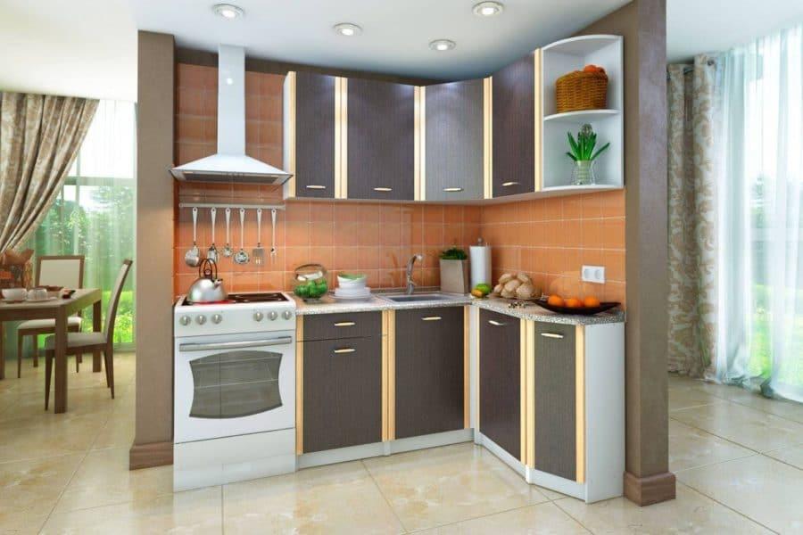 Кухня угловая Бланка 1,4х1,4м венге правая фото | интернет-магазин Складно