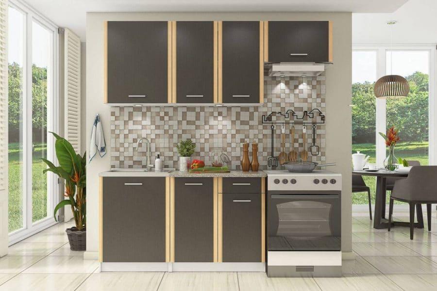 Кухонный гарнитур Бланка 2,0м цвета венге фото | интернет-магазин Складно