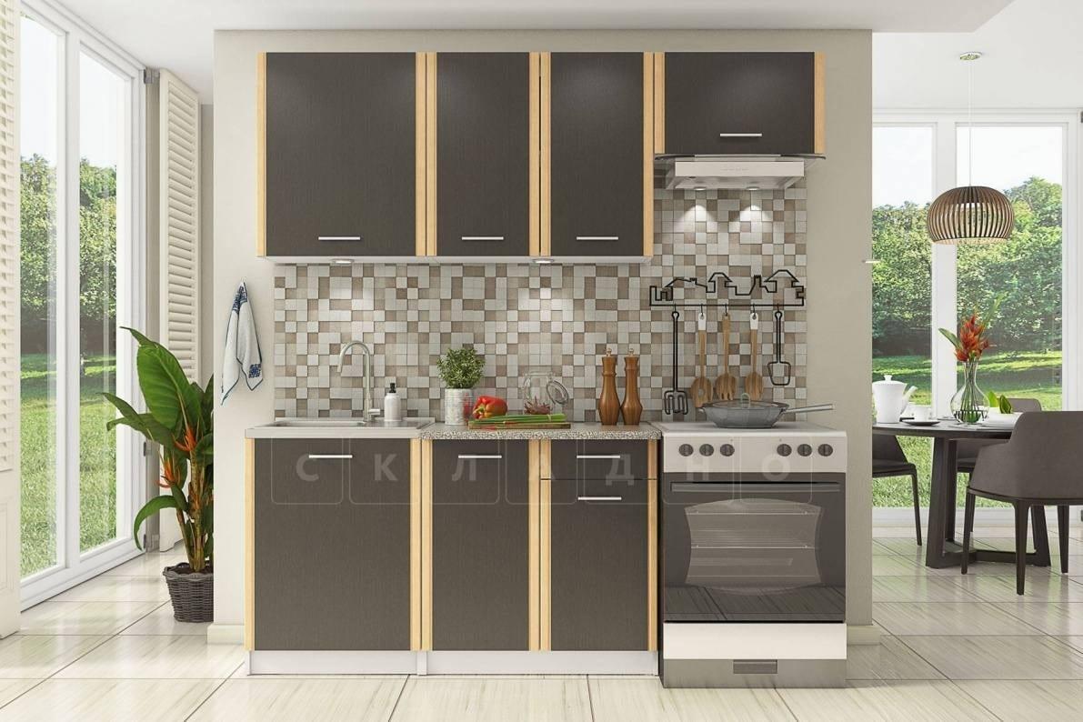 Кухонный гарнитур Бланка 2,0м цвета венге фото 1 | интернет-магазин Складно