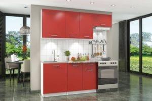 Кухонный гарнитур Бланка 2,0 м красный чили фото | интернет-магазин Складно
