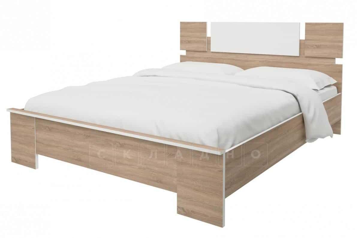 Кровать Оливия дуб сонома 160 см фото 1 | интернет-магазин Складно