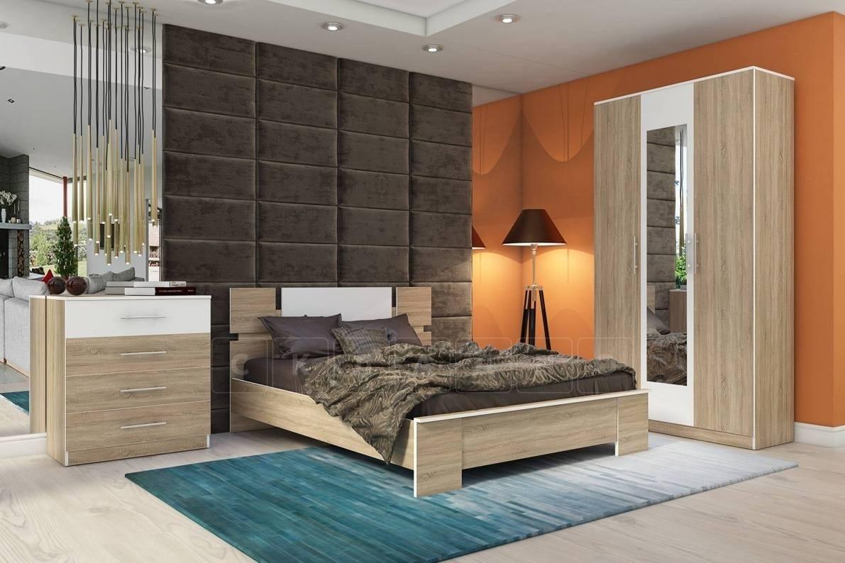 Cпальный гарнитур Оливия дуб сонома фото 1 | интернет-магазин Складно