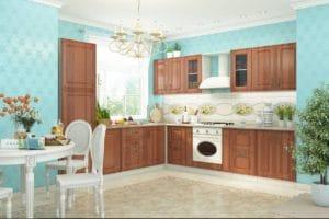 Кухня угловая Ника итальянский орех  90030  рублей, фото 1 | интернет-магазин Складно