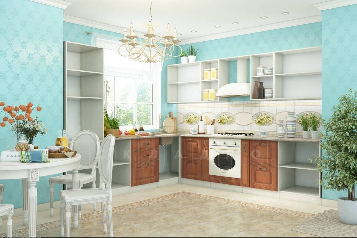 Кухня угловая Ника итальянский орех фото 2 | интернет-магазин Складно