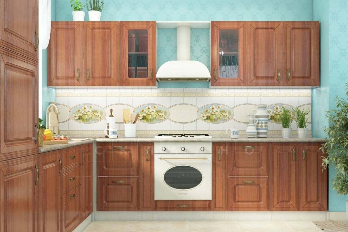 Кухня угловая Ника итальянский орех фото 4 | интернет-магазин Складно