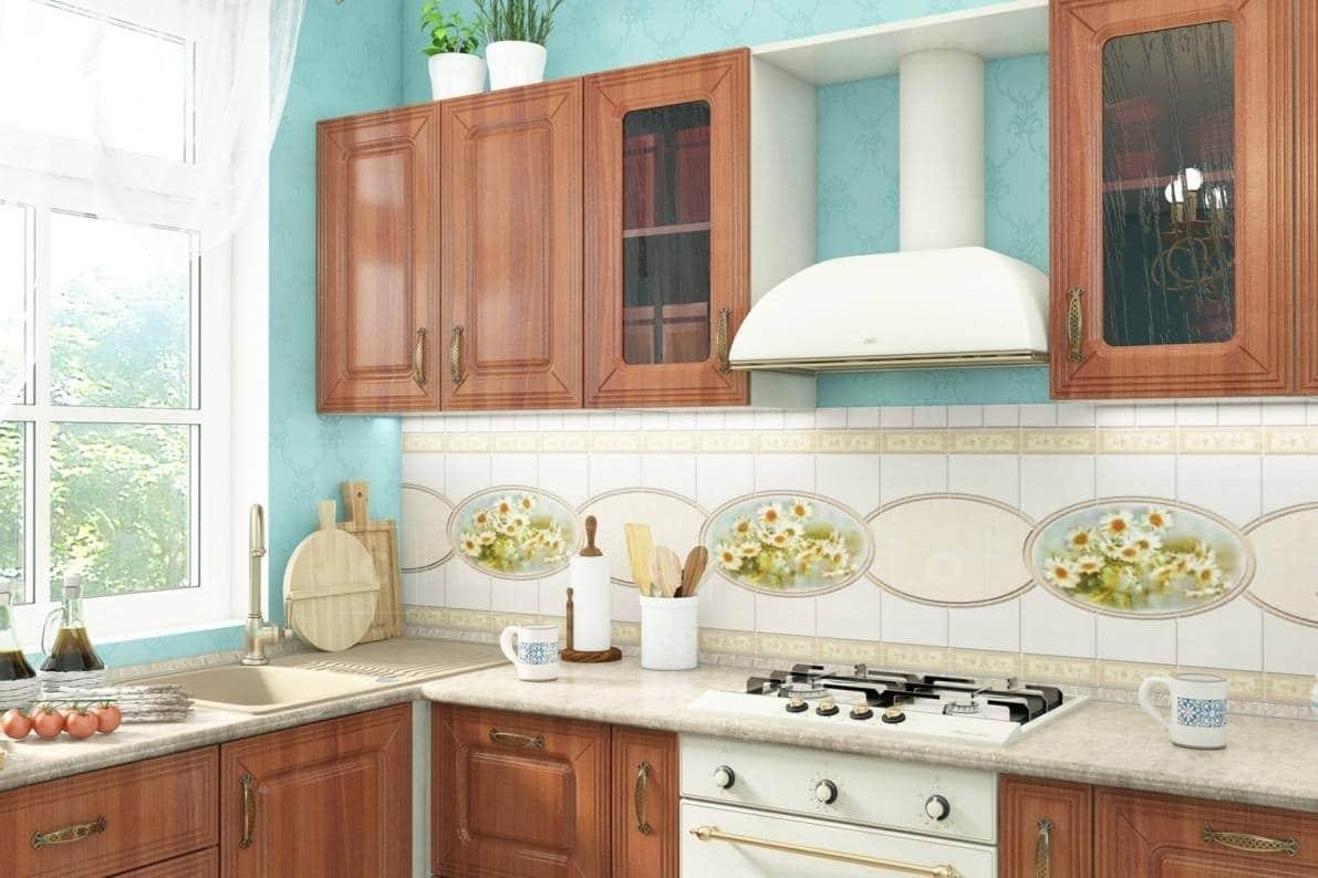 Кухня угловая Ника итальянский орех фото 3 | интернет-магазин Складно