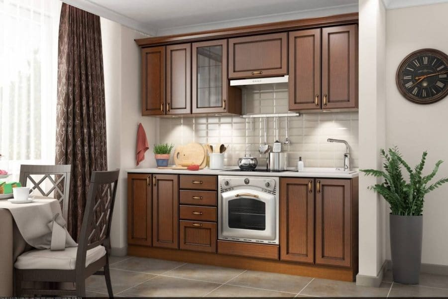 Кухонный гарнитур Эмилия 2200 массив фото | интернет-магазин Складно