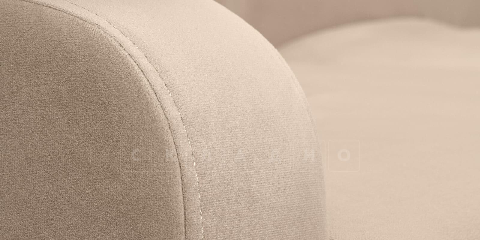 Диван прямой Денвер велюр бежевый фото 5 | интернет-магазин Складно