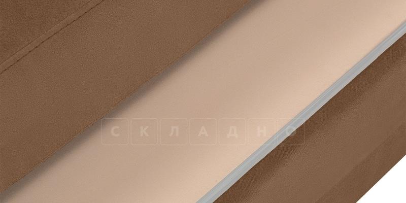 Диван Эвита велюр коричневого цвета фото 5 | интернет-магазин Складно