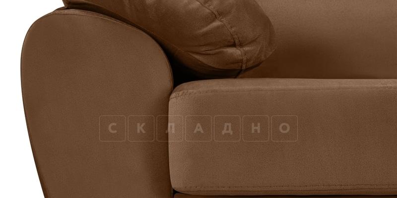 Диван Эвита велюр коричневого цвета фото 8 | интернет-магазин Складно