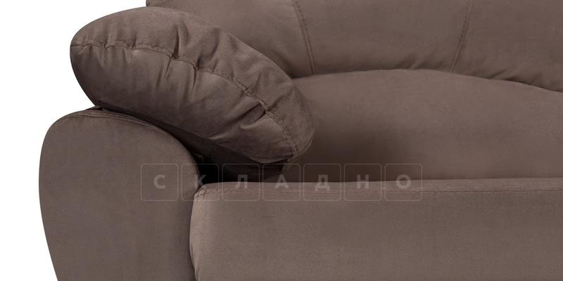 Диван Эвита велюр темно-коричневый фото 5 | интернет-магазин Складно