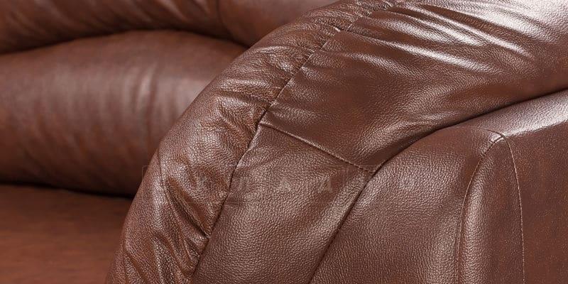 Диван угловой Эвита кожаный коричневый правый угол фото 8 | интернет-магазин Складно