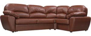 Диван угловой Эвита кожаный коричневый правый угол  75300  рублей, фото 1 | интернет-магазин Складно