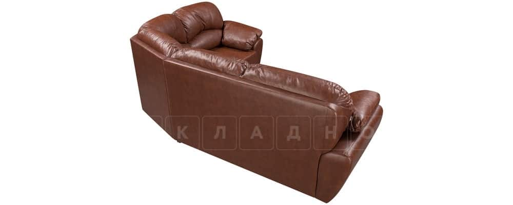 Диван угловой Эвита кожаный коричневый правый угол фото 3 | интернет-магазин Складно