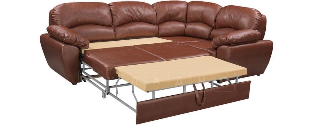 Диван угловой Эвита кожаный коричневый правый угол фото 5 | интернет-магазин Складно