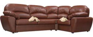 Диван угловой Эвита кожаный коричневый правый угол 75300 рублей, фото 4 | интернет-магазин Складно