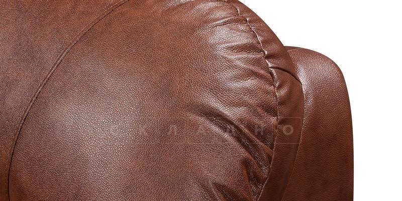Диван угловой Эвита кожаный коричневый правый угол фото 9 | интернет-магазин Складно